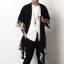 Japon streetwear giyim japon kimono erkekler ceket harajuku yukata erkekler bombacı ceket geleneksel çin ceketler erkekler için