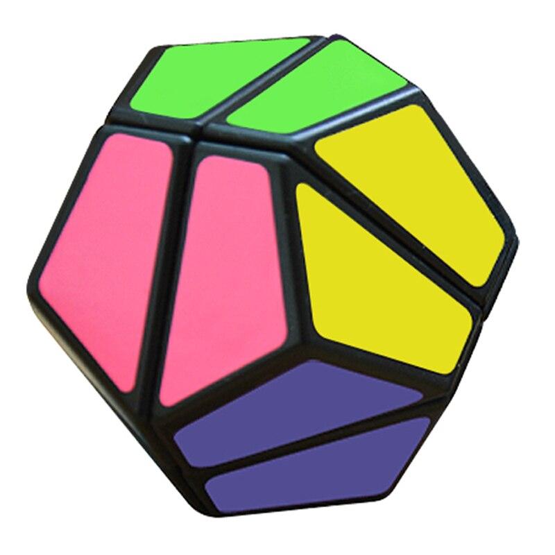 CubeStyle Lanlan 2x2 Dodechaderon 12-facettes Megaminx Professionnel Magie Cube Noir/Blanc Puzzle Vitesse Classique Jouets Pour Enfants