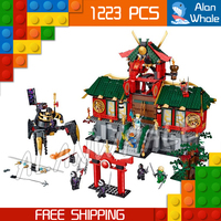 1223pcs New Battle for Ninja City Temple Base Glider 9797 Figure Building Blocks Classic Assemble Toy Compatible With LegoING