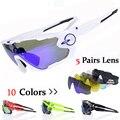 JBR 10 Colores Polarizado Ciclismo gafas de Sol/Gafas de Bicicleta de Montaña/5 Lente Ciclismo Gafas de Bicicletas gafas de Sol Gafas de Ciclismo