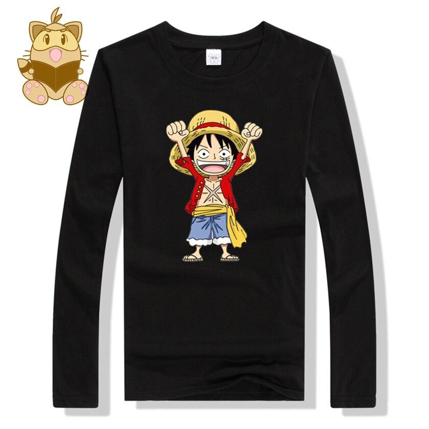 2017 Anime One Piece Monkey D Luffy Tee Shirts Long Full
