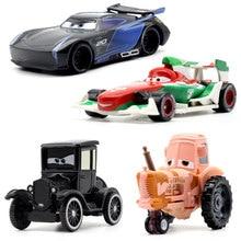 22スタイルdisney pixar cars 3用キッズ·ジャクソン嵐クルスramirea高品質プラスチック車のおもちゃ漫画モデルクリスマスギフト