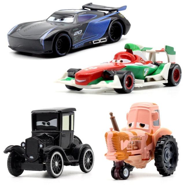 Figuras de personajes de Disney Pixar Cars 3 para niños, 22 estilos, Jackson Storm, Cruz Ramirea, coches de plástico de alta calidad, modelos de dibujos animados, regalos de navidad