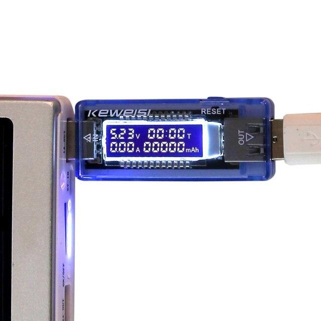 Nouveau USB Chargeur Médecin Mobile Détecteur De Puissance Batterie Test Tension Current Meter 6412