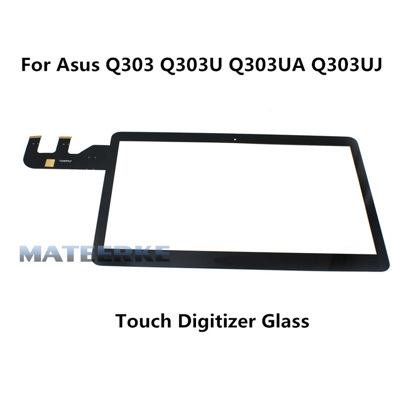New 13.3 laptop touch screen digitizer touch glass replacement for Asus Q303 Q303UA Q303UA-BSI5T21 Q303UJ 13 3 touch glass panel digitizer lcd screen display assembly bezel for asus q303 q303u q303ua series q303ua bsi5t21 1366x768
