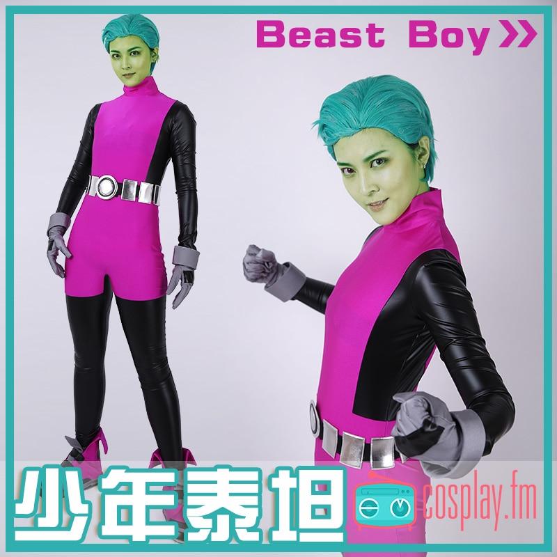 Beast Boy Cosplay Costume Jumpsuit