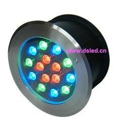 CE  ze stali nierdzewnej  IP68  wysokiej mocy 15 W LED RGB światło podziemne  LED RGB światła podłogi  DS 11S 22 15W  15X1 W  D220mm  24 V DC|Reflektory LED|Lampy i oświetlenie -