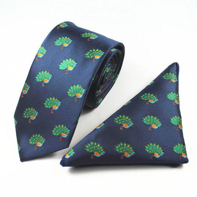 GUSLESON New Quality Mens Silk Tie Set Necktie Hanky Pocket Square Gravata Animal Christmas Ties Fashion Wedding Tie For Men