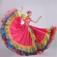 Ceremony Big Swing Skirt Atmosphere Spanish Big Skirt Bullfighting Big Dress Skirt Square Dance Performance Dress