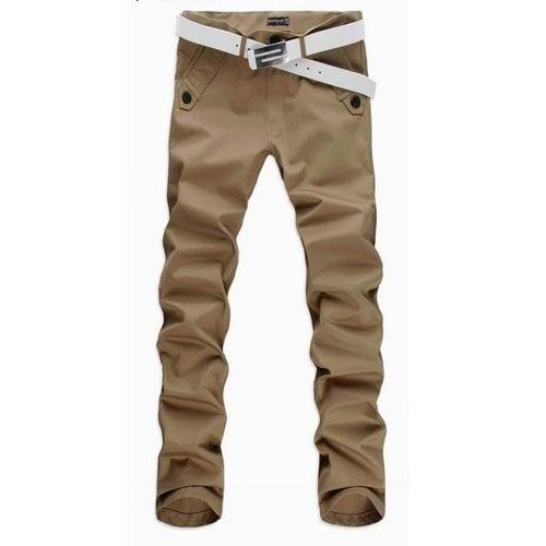 2017 Chegada Nova Mens Casual Calças Chinos Magros Moda Masculina Reta Calças Pantalones Hombre Plus Size M-4XL 13M0188