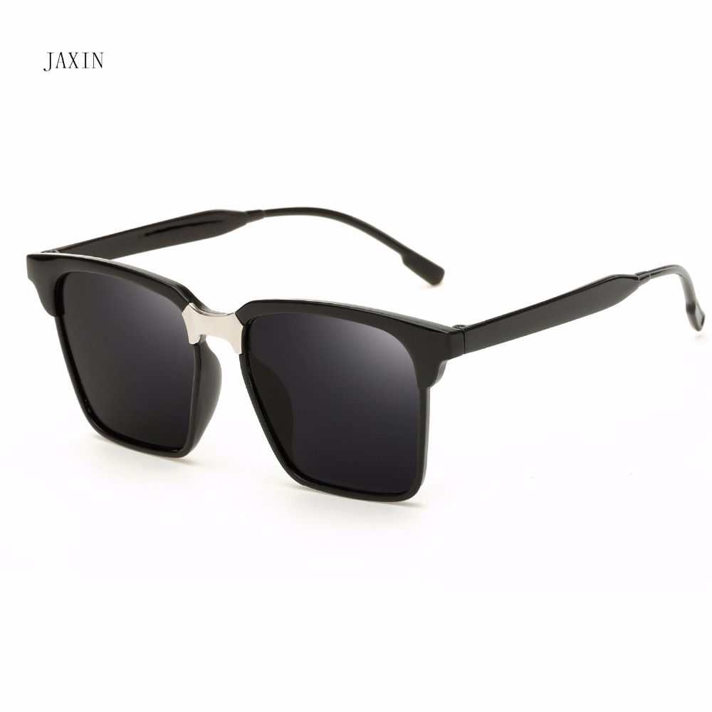 JAXIN Retro square sunglasses women coated cool men driving travel fashion wild glasses UV400 okulary