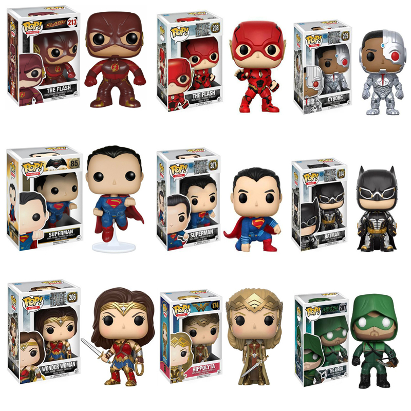 Funko Pop Action Figure Flash Man Wonder Woman Superman Batman Movie Figure Anime Model Pvc Collection Toys For Children Gift