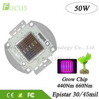 1 Pcs High Power 50W LED Chip Red 660nm Blue 440nm Mitsuhiro 50 Watt 24 26V