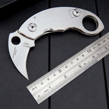 High Quality C84 claw knife steel handle+ 9Cr steel blade folding knife outdoor camping survival tool Tactical knives