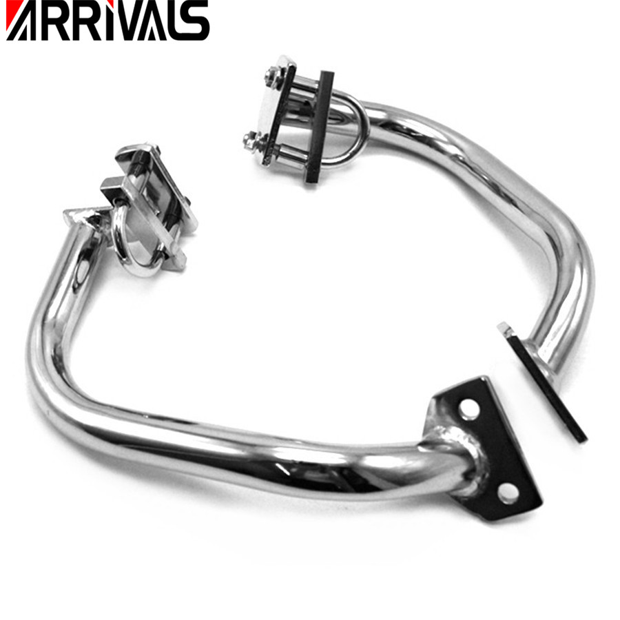Motorcycle Engine Guard Highway Crash Bar Cage Left&Right Sides Metal Steel For Yamaha XJR 1200 1300 Protection Side Bumper