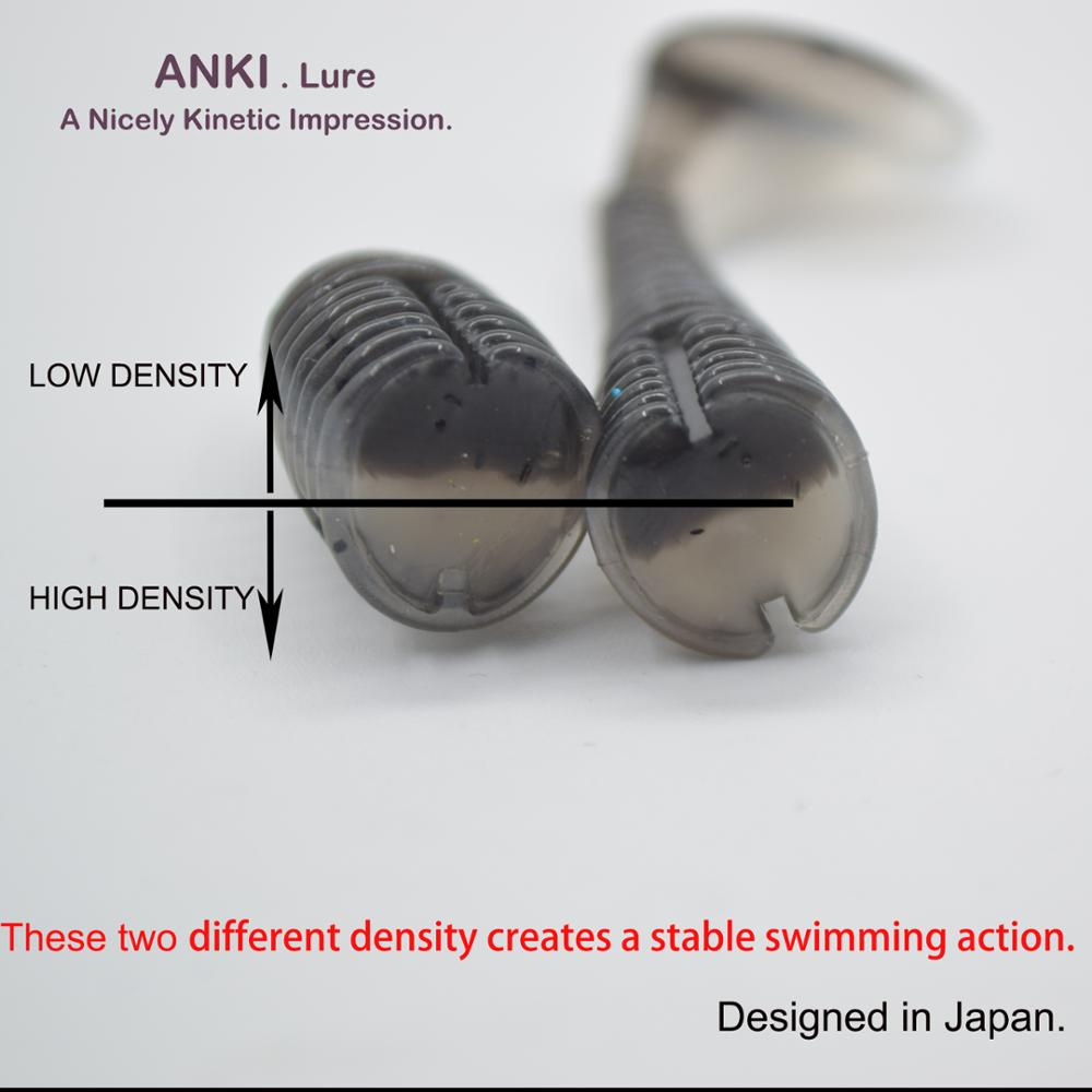 ANKI Japan 55mm 0 85g 20pcs Lot Swing Impact Fishing Lures Swimbait Craws Soft Lures Fishing Soft Bait Bass Bait in Fishing Lures from Sports Entertainment