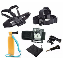 Sports Camera Accessories Kits 9 in 1 Head Chest Strap Tripod Wrist Strap Floaty Floating Hand Grip Monopod for GoPro Hero