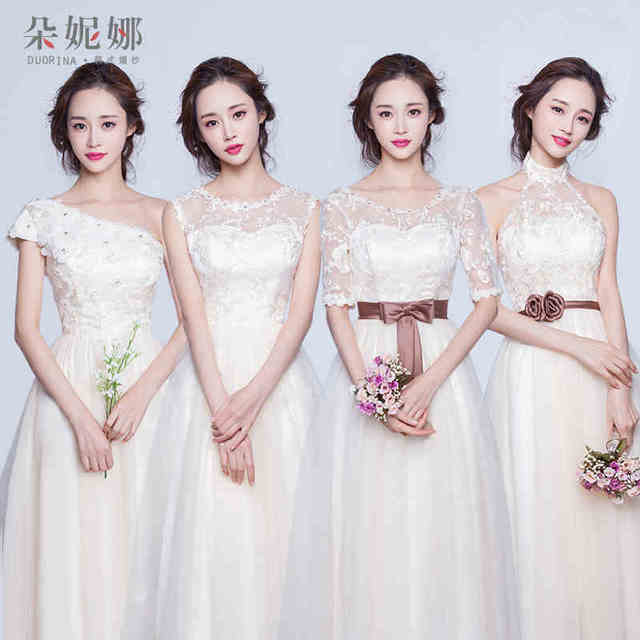 4 Style Lace Bridesmaid Dresses Short 2016 Cute Bridesmaid Dress High Low  For Special Occasions Gown Vestido De Festa BD122 64890854d2d5