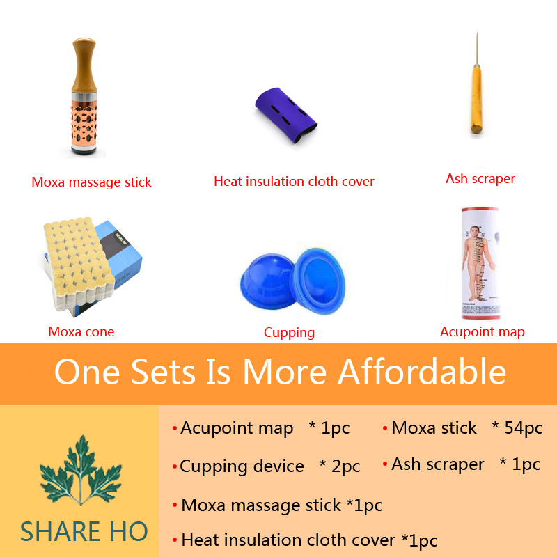 Купить с кэшбэком SHARE HO Chinese Moxa A Massager For Face Moxibustion Rolls Health Care Acupoint Aventurine Jade Stone Heating Massage Therapy