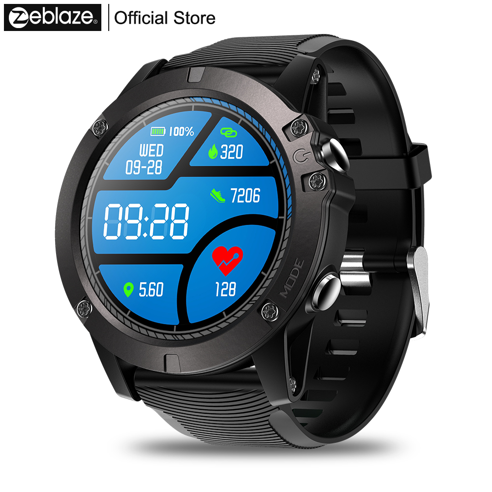 Zeblaze VIBE 3 PRO Color Touch Display Sports Smartwatch Heart Rate IP67 Waterproof Weather Remote  Music Men For IOS & Android g6 tactical smartwatch