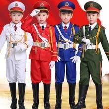 Военная Униформа форма Студент флаг повышение костюмы Национальный барабаны группа хора выступления одежда милитари армии костюмы