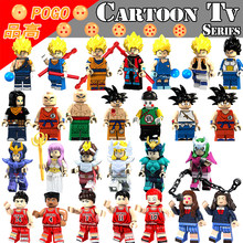 Figures Legoing Dragon Ball Son Goku Legoings Super Heroes Saint Seiya SLAM DUNK Building Blocks Educational Toys For Children(China)