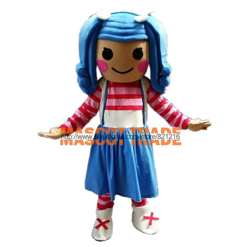 lalaloopsy mascot costume adult size cartoon halloween mascot costume party fancy dress outfit in anime costumes from novelty special use on