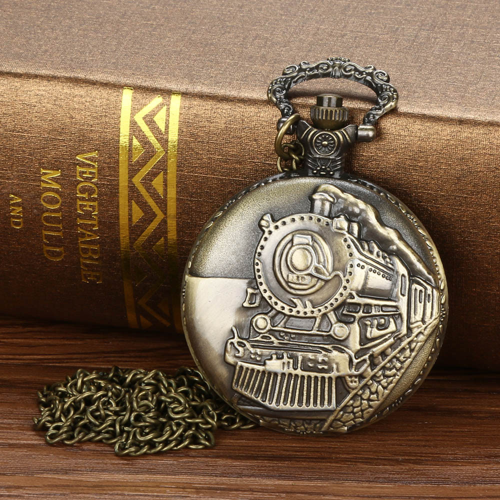 Vintage pocket watch Chain Retro The Greatest Pocket Watch Necklace For Grandpa Dad Gifts reloj de bolsillo relogio de bolso