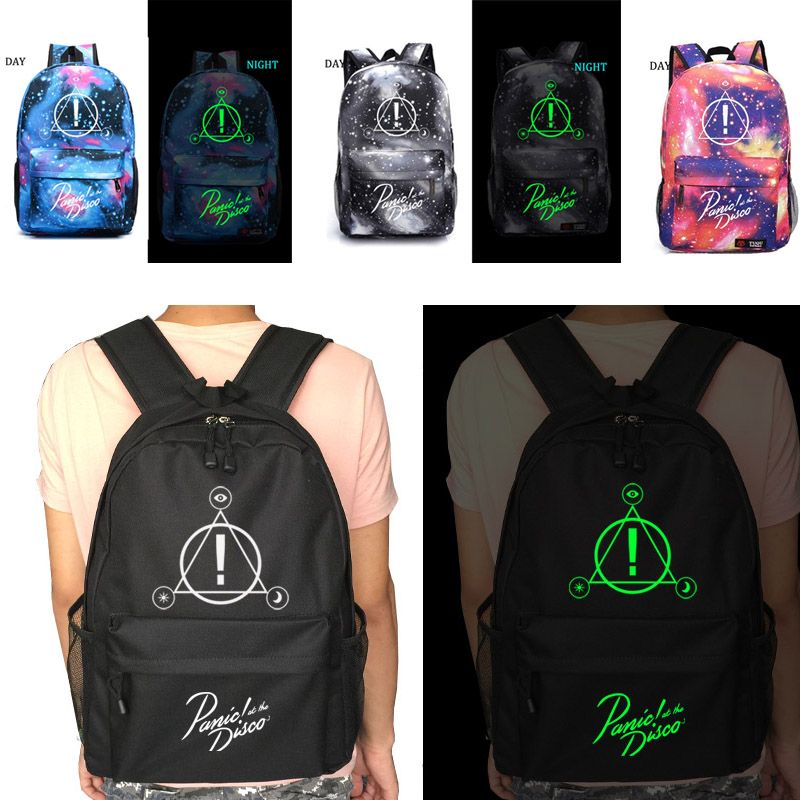 Panic At The Disco school bag Starry sky backpack student school bag Notebook backpack Leisure Daily backpack panic at the disco