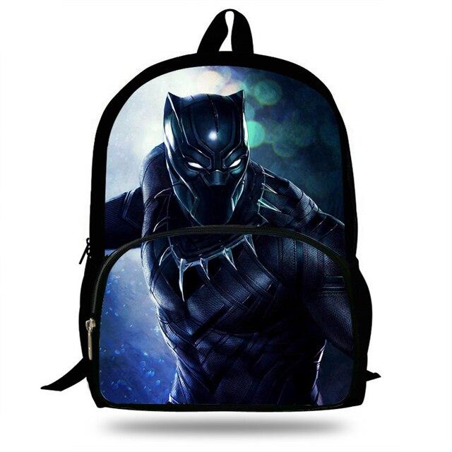 a3893bc5ca 16inch Popular Super Hero Bag For Children Black Panther Backpack For Boys  Girls School Bookbags For Kids