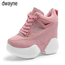 Women flats Platform Shoes Height increasing casual sneaker thick Sole Trainers