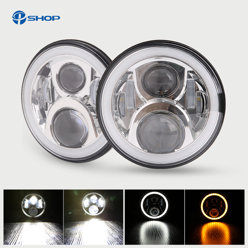 купить For uaz4x4 Jungle hunter Led Headlight 7inch Round High Low Beam DC 12v 24v External Lights headlamp For Lada 4x4 urban Niva онлайн