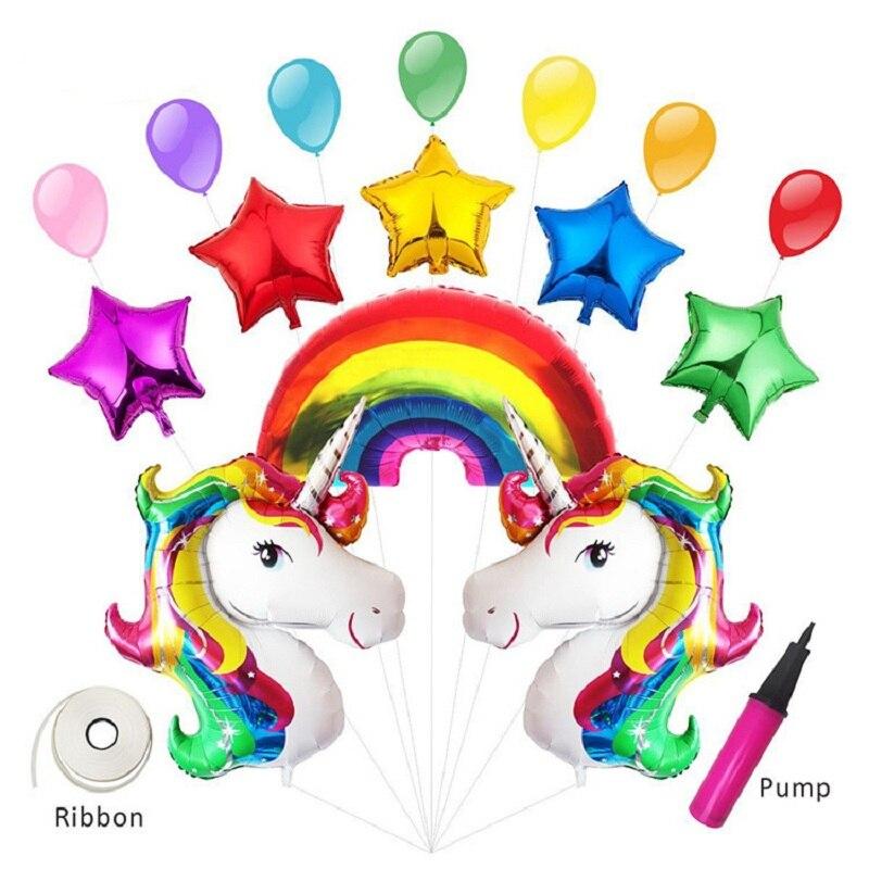 Dog Toys Brave Oudirose Unicorn Foil Rainbow Balloon Baby Shower Birthday Party Decoration Children Unicorn Party Wedding Decoration Supplies Be Novel In Design