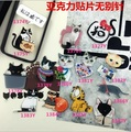 12pcs/lot Chlidren pins stock cap bag Cartoon brooches color Funny crystal brooches patch Cat Dog easy brooch broche retail