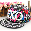 2016 men exo hip-hop chapeau male graffiti baseball cap women brim straight snapback bone discount