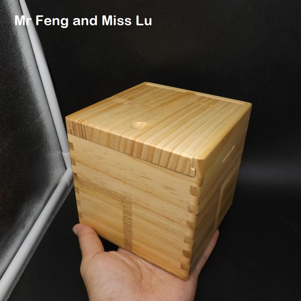 Solid Line Mark 13 cm Fancy Wood Magic Box Puzzle Special Mechanism Game Toy Intelligence IQ Brain Teaser Secret Box plywood