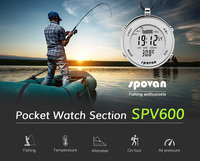 Multifunctional electronic fishing pressure man pocket watch, height, temperature, weather record backlight waterproof watch