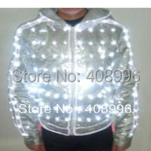 LED and EL luminous jacket streetwear for evening club performance prop