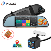 Podofo Car DVR 3G Touch Mirror Camera 5 Full HD 1080P Dash Cam Video Recorder Camera