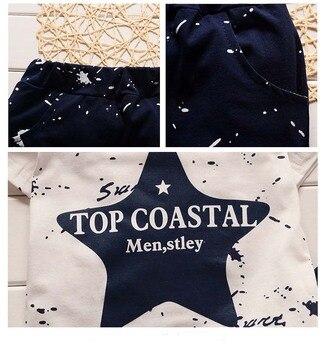 New Summer Baby Boys Clothing Set For Kids Star T-Shirt+Short 4