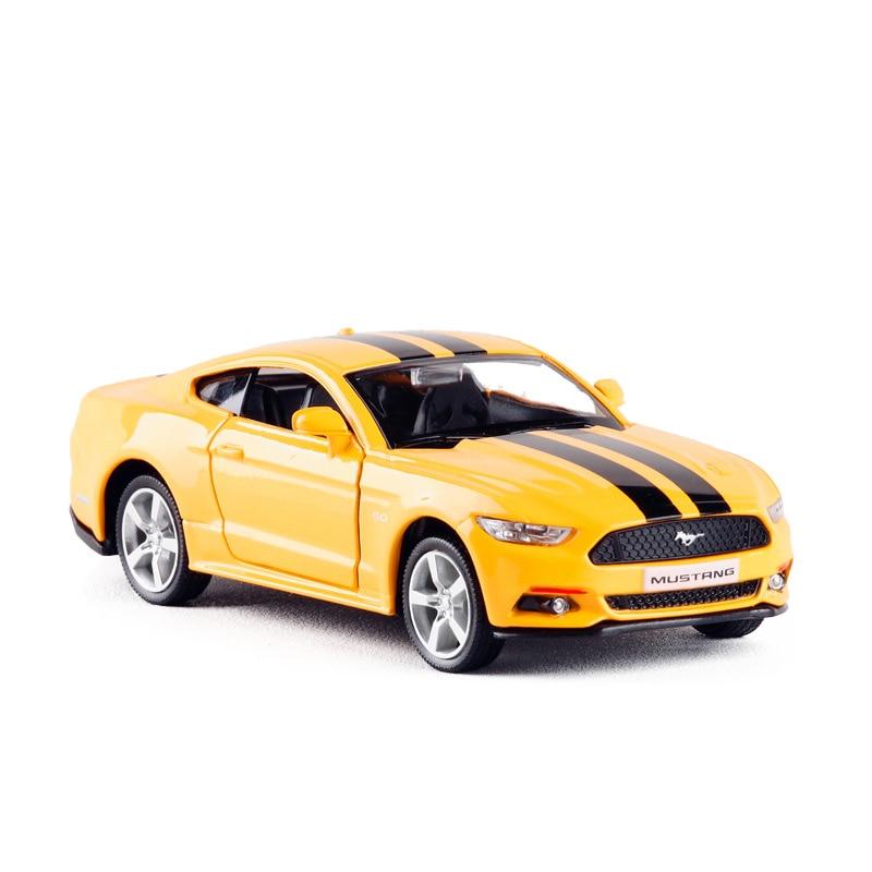 Ford Mustang 1:36 2015 Modèle De Voiture Alliage moulé sous pression jouet véhicule Noir Cadeau Enfants Garçons