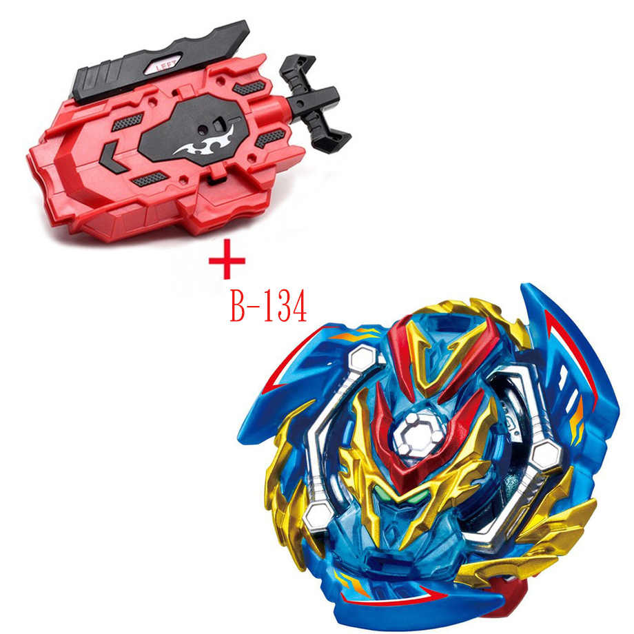 Bey bay Burst B-134 met Links Rechts Twee Manier Draad Launcher Metal Booster Top Starter Gyro Spinning Strijd Speelgoed