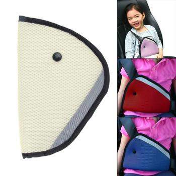 Car Triangle Baby Safe Fit Seat Belt Cover Adjuster Device Breathable Child Neck Face Protection For Kids Auto Car Accessories image