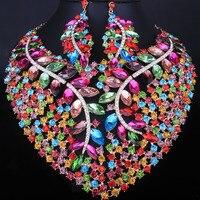Bridal Gift Nigerian Wedding African Beads Jewelry Set Fashion Dubai Crystal Jewelry Sets Costume Design Big