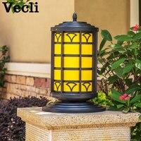 Outdoor column head lamp wall light waterproof home garden lighting fixtures villa hotel door pillar Luminaria