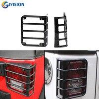 Black Chrome Auto 07 16 Jeeps JK Wrangler Rubicon Metal Billet Tail Light Taillight Lamp Guards
