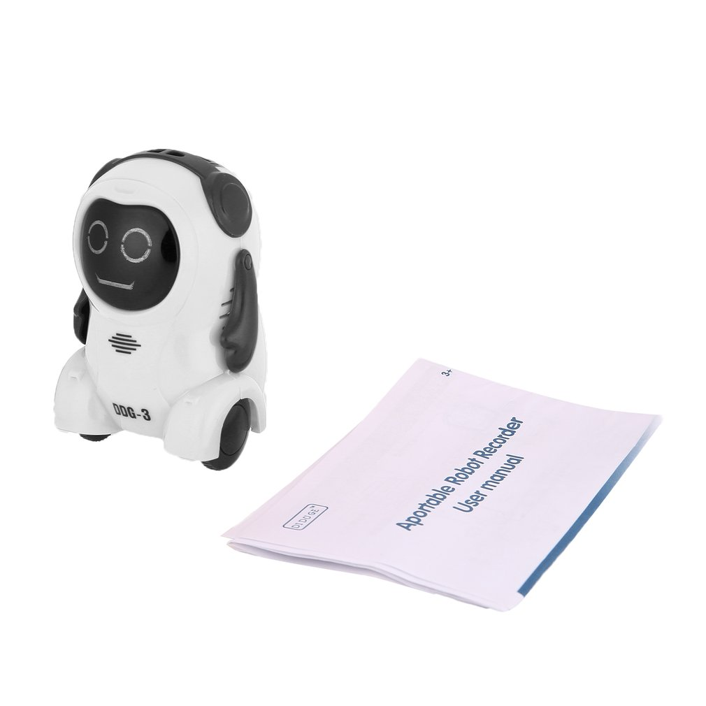 Intelligent DDG-2 DDG-3 Mini Pocket Voice Recording RC Robot Smart Recorder Freely Wheeling