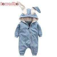 Lawadka Newborn Cotton Baby Girl Rompers Big Ear Baby Girls Clothes Cute Cartoon Baby Clothing Infant