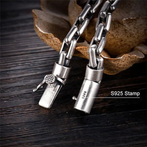 Image 2 - GAGAFEEL 6/8MM Male Bracelet 925 Sterling Silver Jewelry Punk Bangles Bracelets for Men Mens Fashion Jewelry