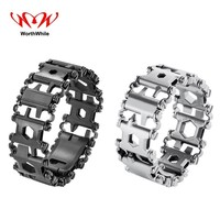 WorthWhile Multifunction Bracelet Wearable Tread EDC Outdoor Tools for Camping Hiking Hunting Bushcraft Gear Survival Equipment